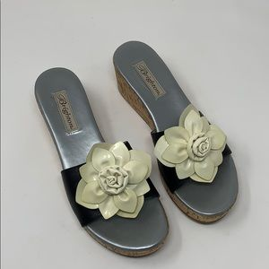 Brighton Womens Wedge Floral Sandals